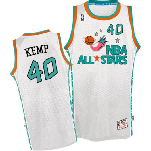 Men's Shawn Kemp Oklahoma City Thunder Mitchell and Ness Authentic White 1996 All Star Throwback Jersey