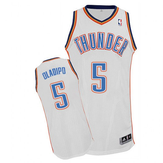 Men's Victor Oladipo Oklahoma City Thunder Adidas Authentic White Home Jersey